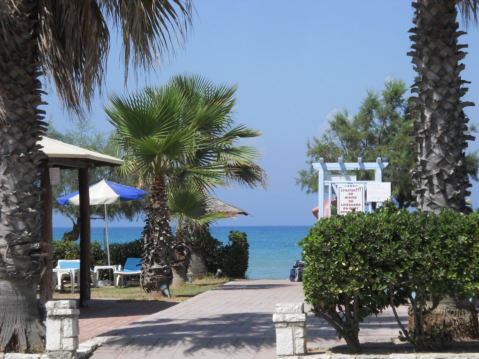 Weg zum Strand Hotel Beach Star