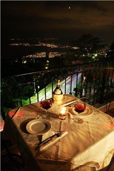 Panoramic Night view Montagna Verde Hotel