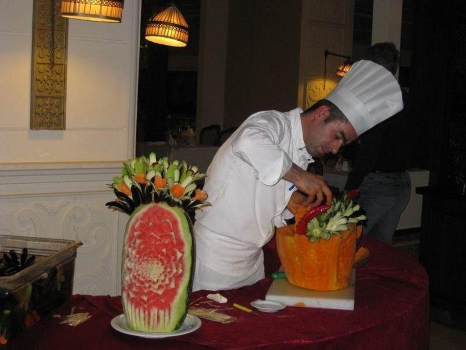 Kunst aus Gemüse & Obst Ela Quality Resort Belek