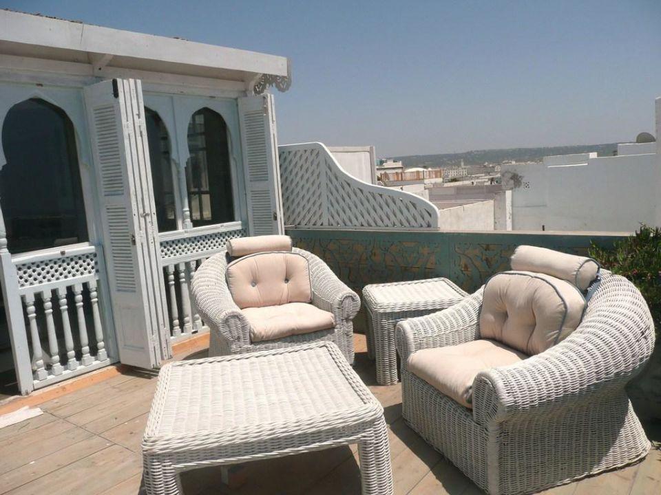 Terrasse du logement du quatrième étage Appartement Charme Essaouira