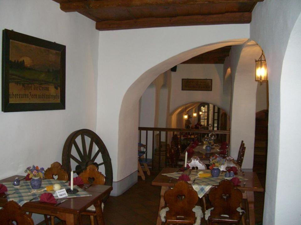 Restaurant und Frühstücksraum Hotel und Gasthof Dreibeiniger Hund
