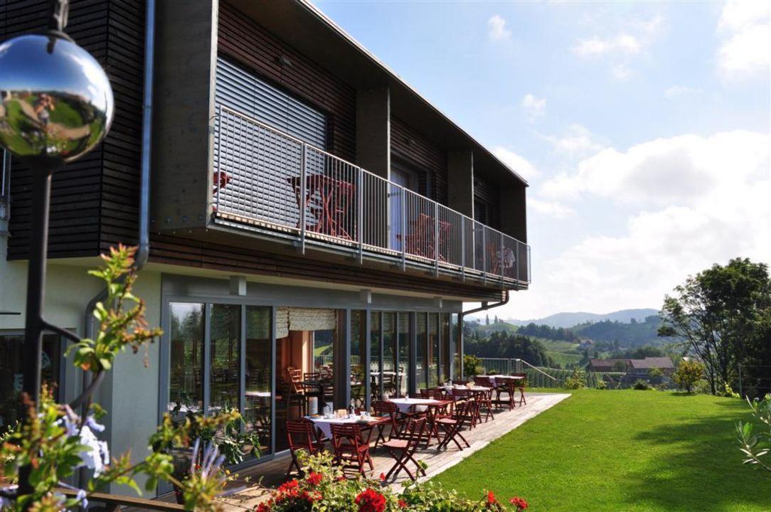 Terrasse und Balkon der Zimmern Kollerhof am Eichberg