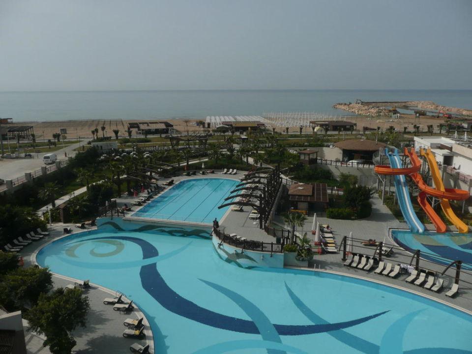Pool und Strandsicht Aydinbey Kings Palace & Spa