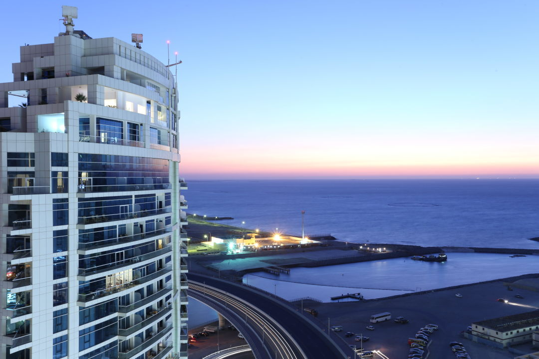 Areal view from Hotel terrace Hawthorn Suites by Wyndham Dubai, JBR