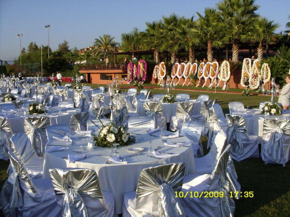 Türkische Hochzeit wird vorbereitet Hotel Alba Resort