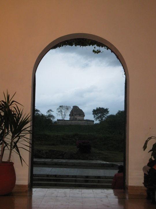 Ausblick von der Lobby zum Observatorium Hotel Mayaland