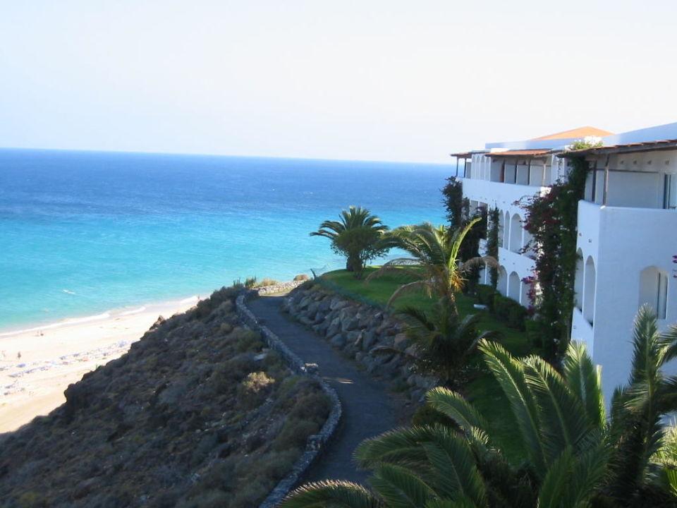 Unser Zimmerblock...Blick von der terrasse Club Jandia Princess