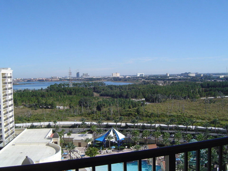 Aussicht Richtung Disney World Hotel Parc Soleil by Hilton Grand Vacations Club