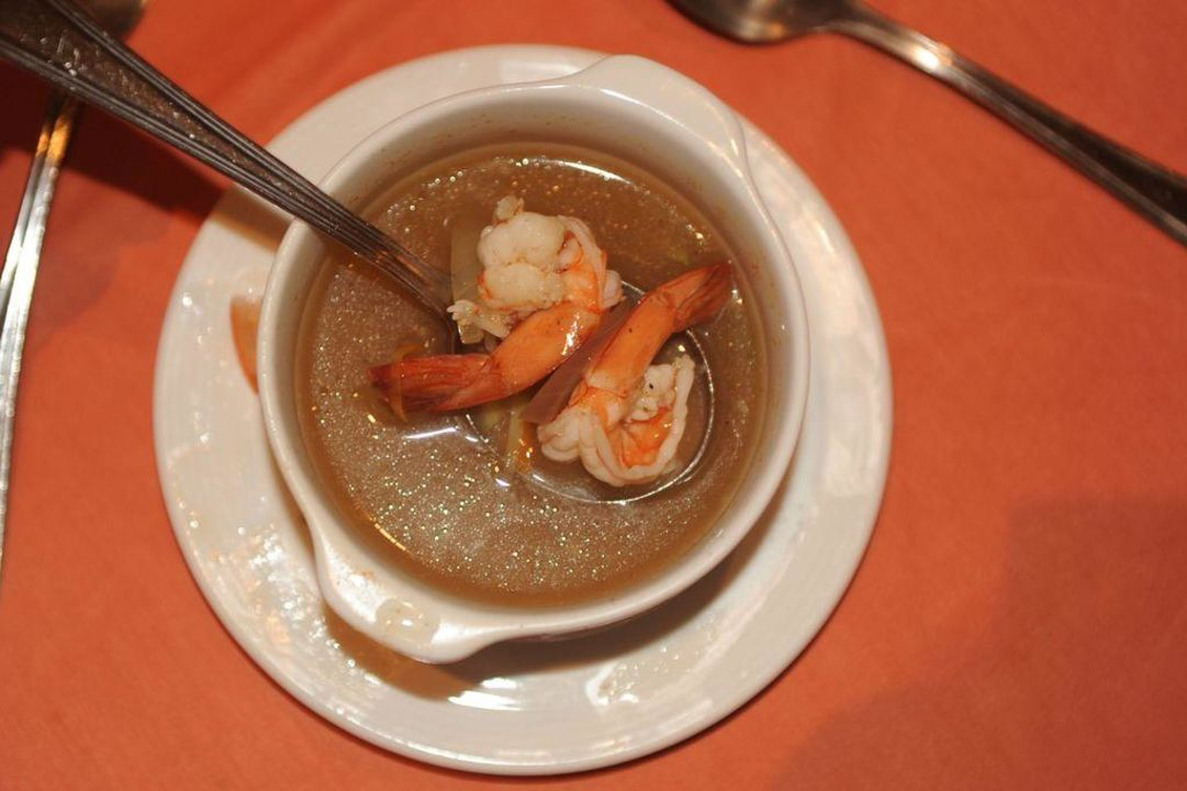 Teller Suppe mit Shrimps Tia Heights Makadi Bay