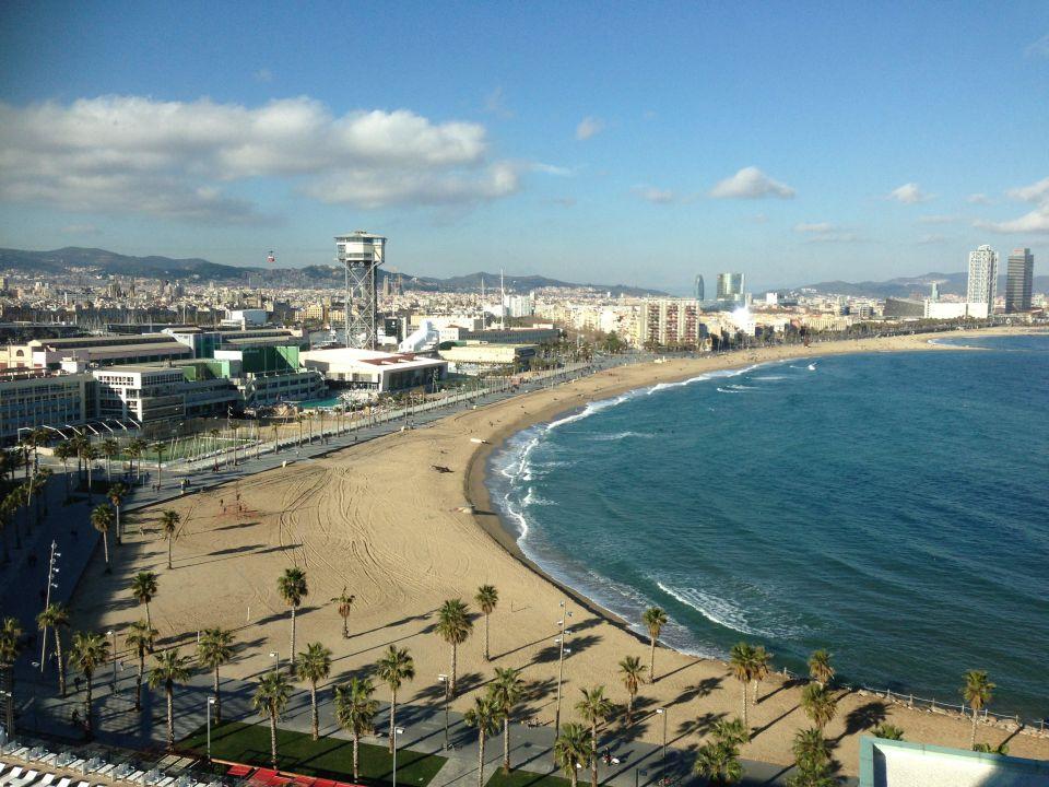 Ausblick Strand La Barceloneta W Barcelona Hotel Barcelona