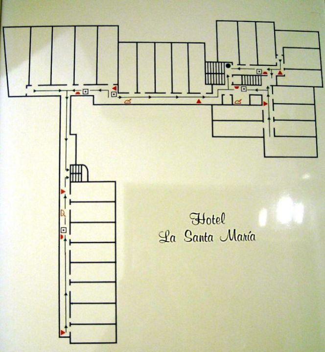 Lageplan smartline La Santa Maria Hotel
