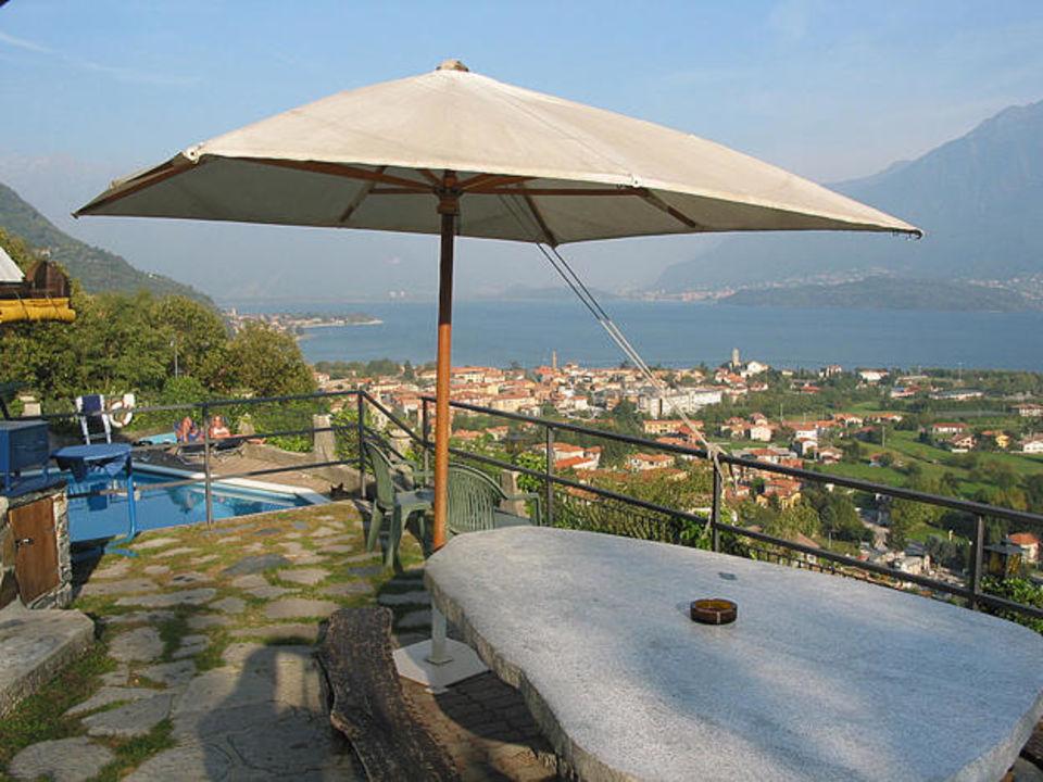 Blick auf den Comer See Hotel Odissea