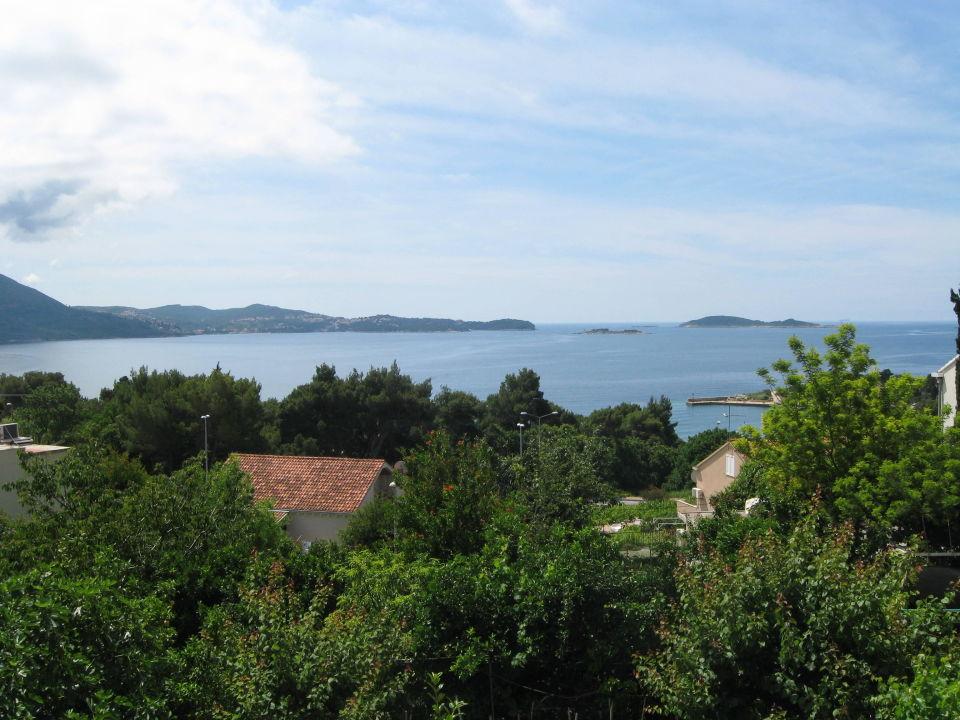 Blick von Terrasse Richtung Meer Villa Adria