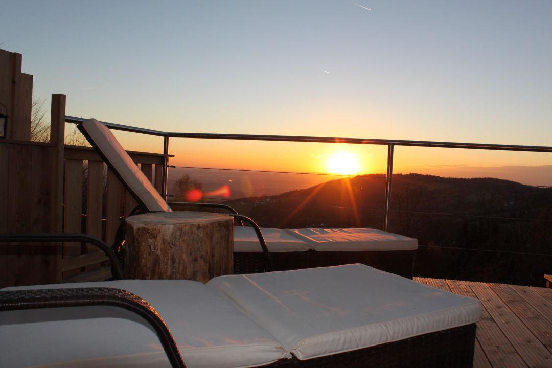 Sonnenuntergang Hütte ZWEIsamkeit Traum Hütten für Zwoa