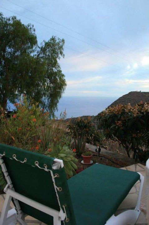 Blick von der Terrasse Casa Las Uvas