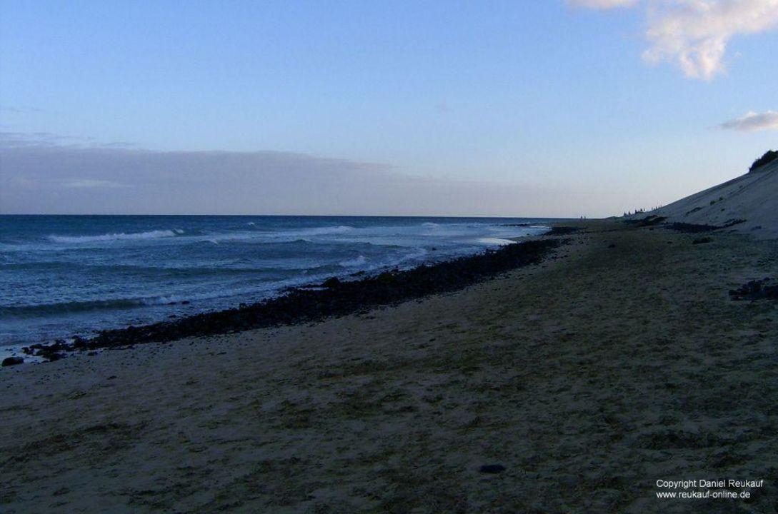 Der Strand am Abend und heftigen Wind SBH Club Paraiso Playa