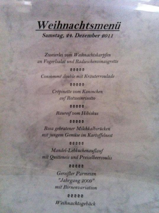 Menü Weihnachten.Menü Weihnachten Hotel Oberforsthof St Johann Im Pongau