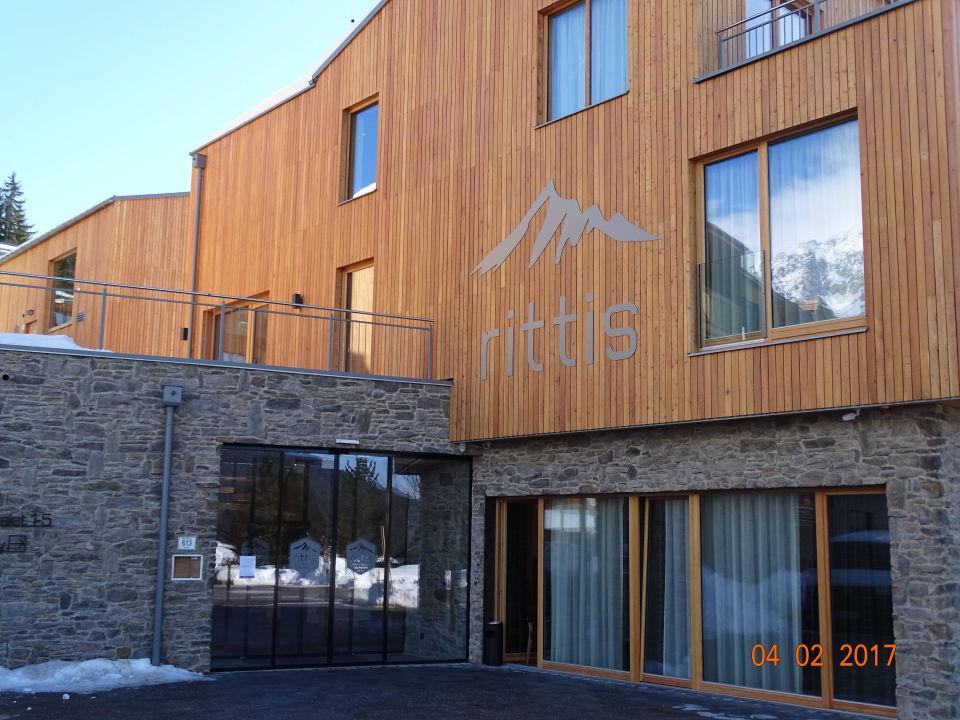 Hoteleingang Rittis Alpin Chalets Dachstein