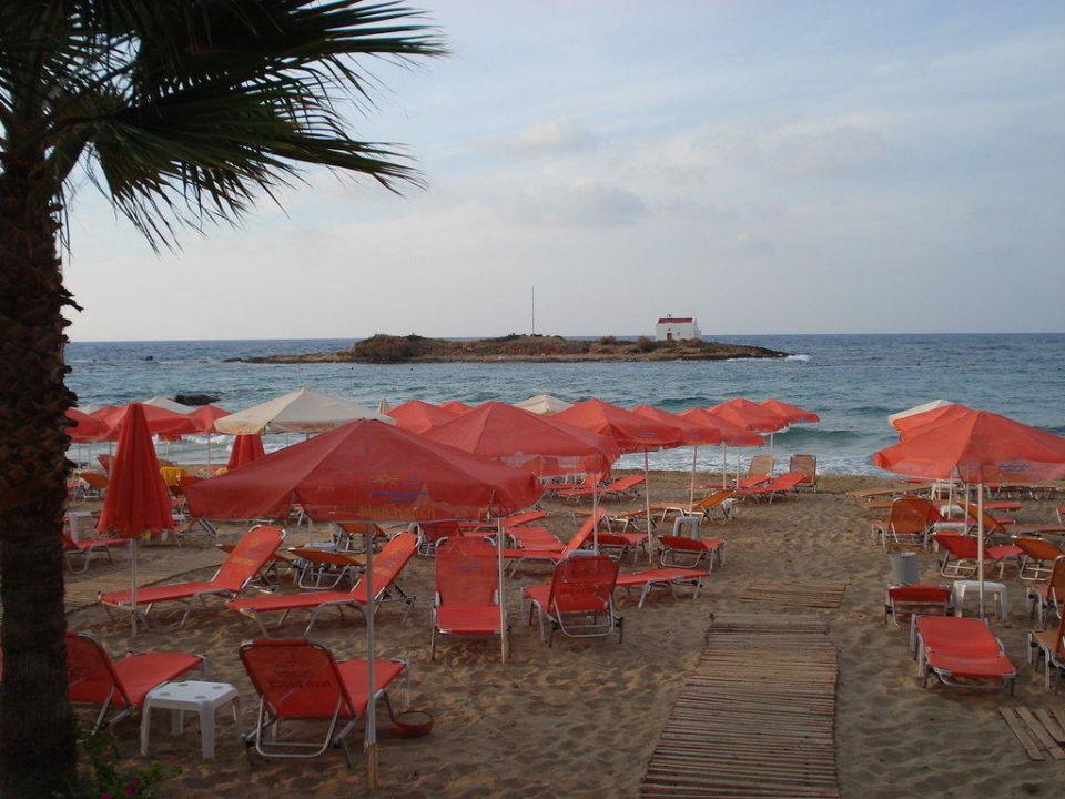 Strand mit kleiner Insel im Meer Hotel High Beach
