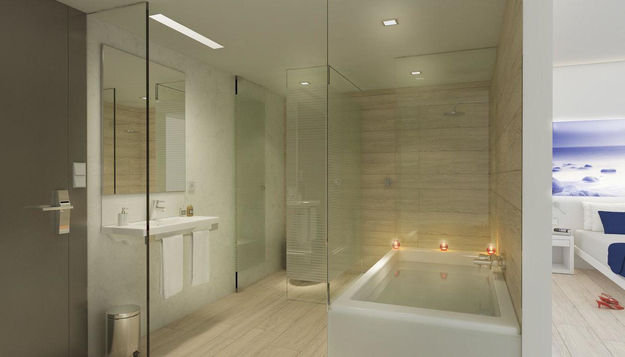 Bild badezimmer zu tonga tower design hotel suites for Hotel badezimmer design