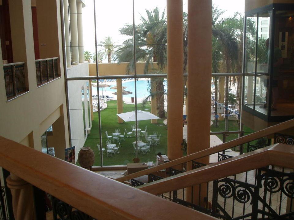 Blick von der Lobby Hotel Daniel Dead Sea
