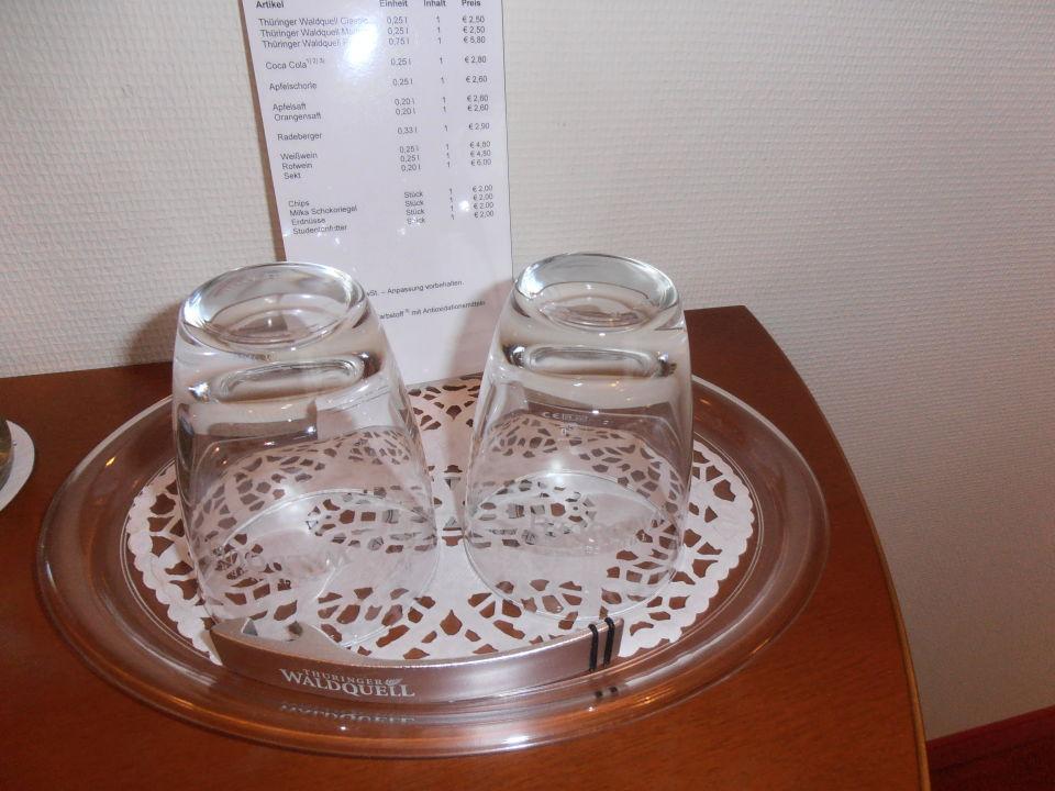 Saubere Gläser für Getränke \