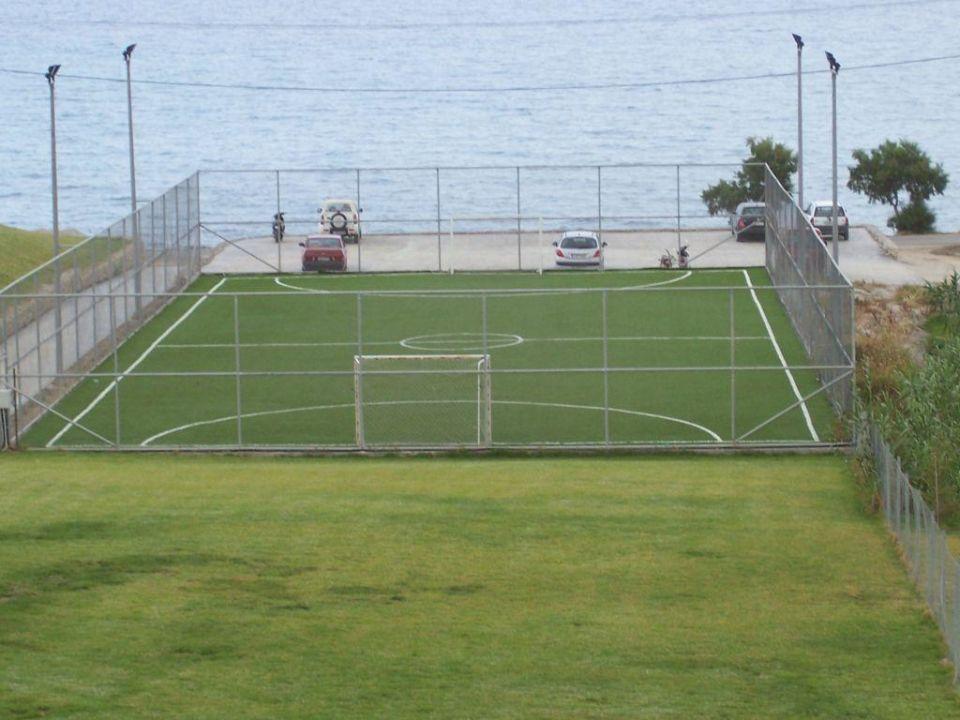 Blick auf den Fußballplatz SENTIDO Carda Beach Atlantica