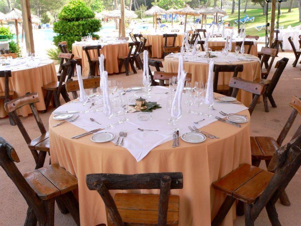 Vorbereitungen zum abendlichen Grillfest Hotel Exagon Park