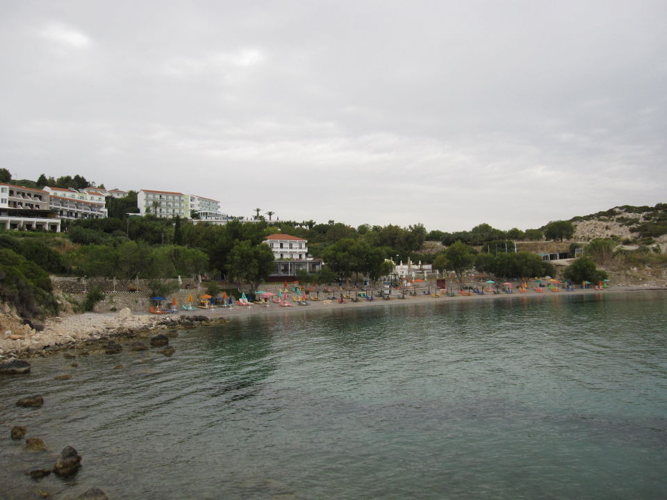 Strand vom Glicorisa Beach Hotel Naftilos Boutique Hotel
