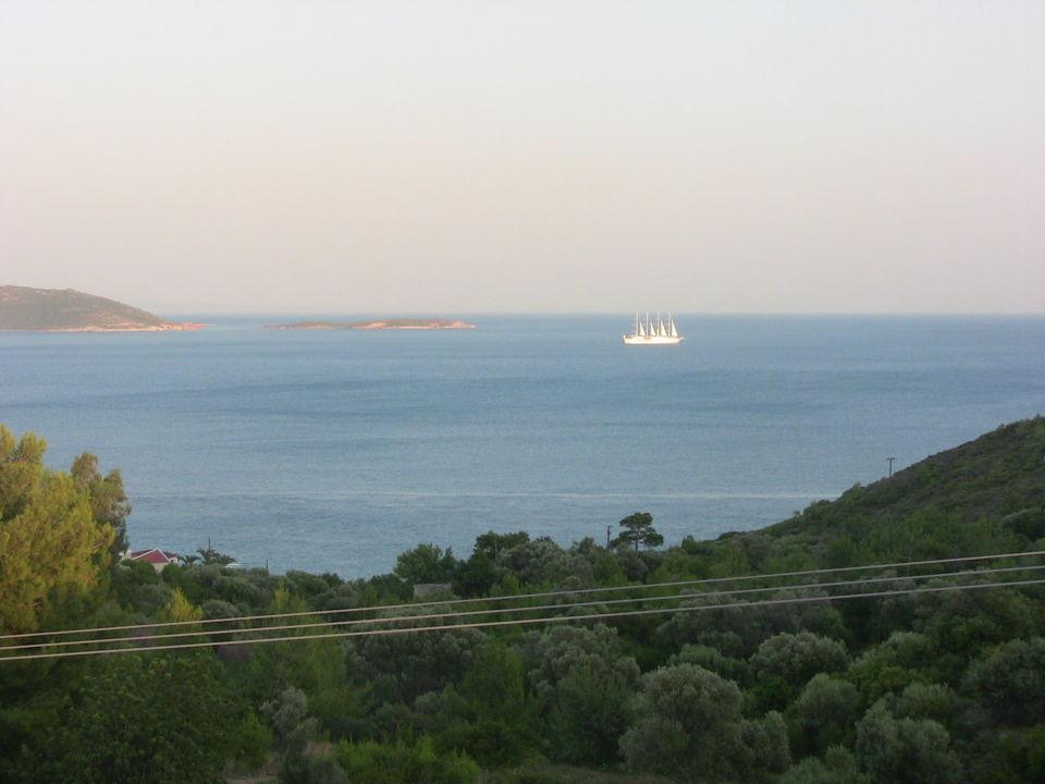 Ausblick vom Balkon Naftilos Boutique Hotel