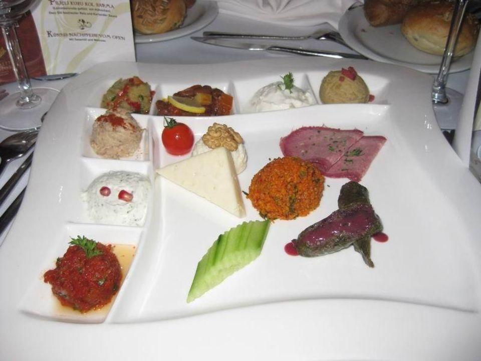 Allerlei Vorspeisen Köstlichkeiten Ela Quality Resort Belek