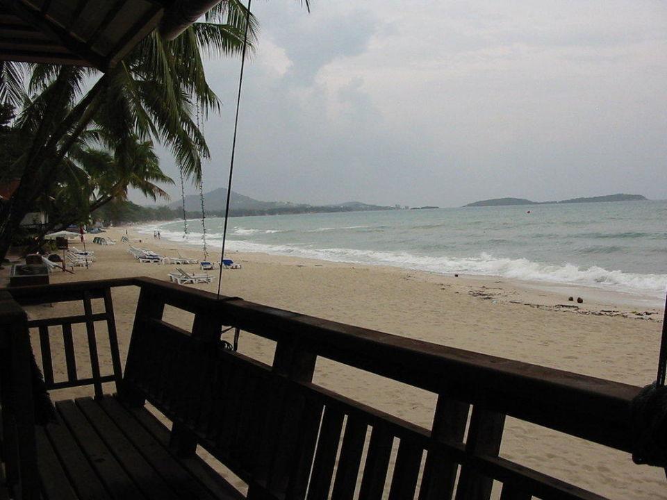 Blick von der Restaurant-Terrasse Samui Paradise Chaweng Beach Resort & Spa