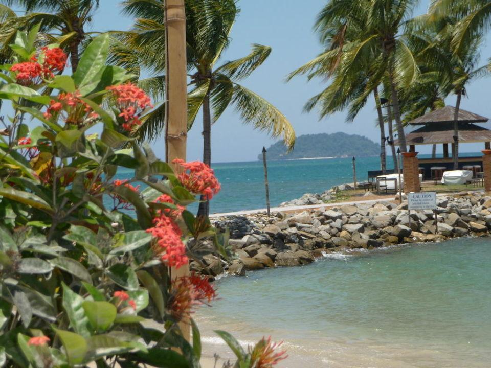 Blick auf die Sunset-Bar Hotel Shangri-La Tanjung Aru Resort