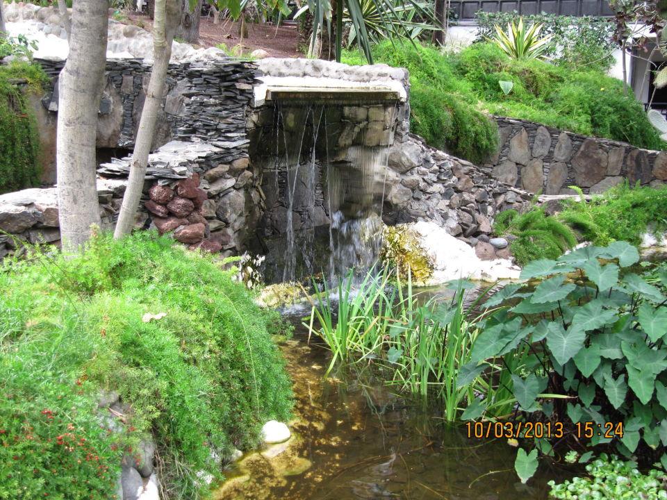 Wasserfall Im Garten Hotel Parque Tropical