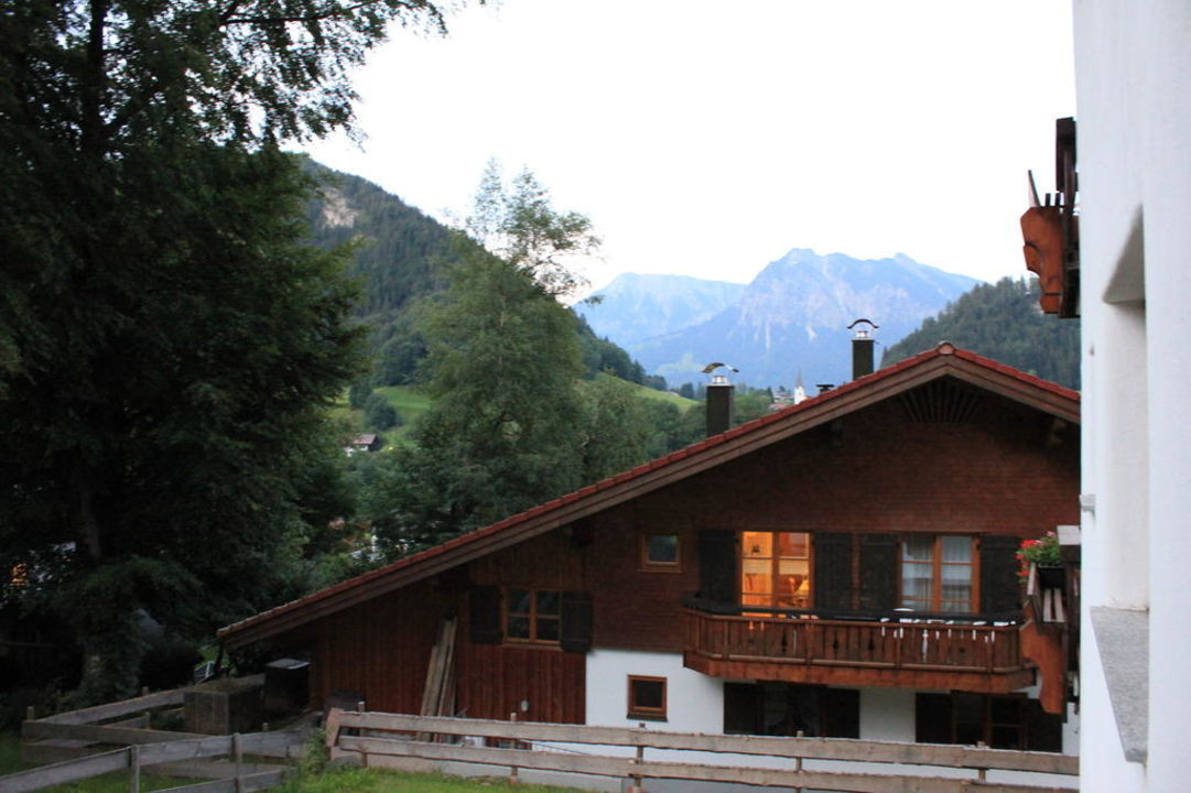 Ausblick vom Balkon Alpenhotel Oberstdorf