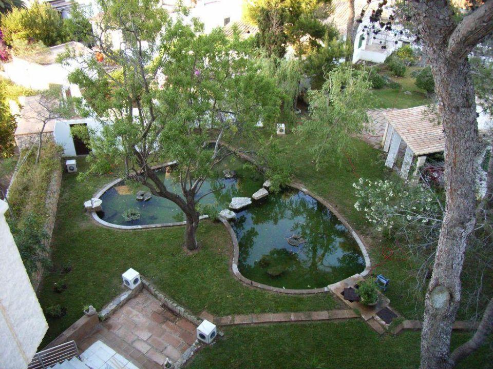Blick vom Balkon, Serrano Palace Hotel Serrano Palace