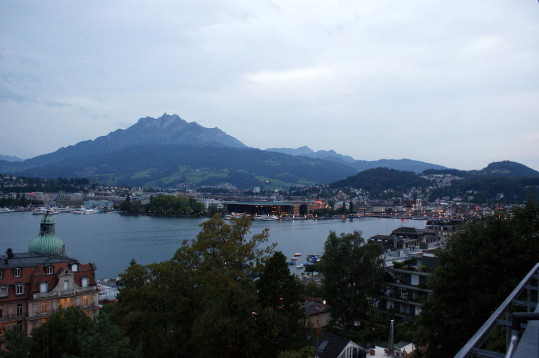 Aussicht auf Luzern Art Deco Hotel Montana Luzern