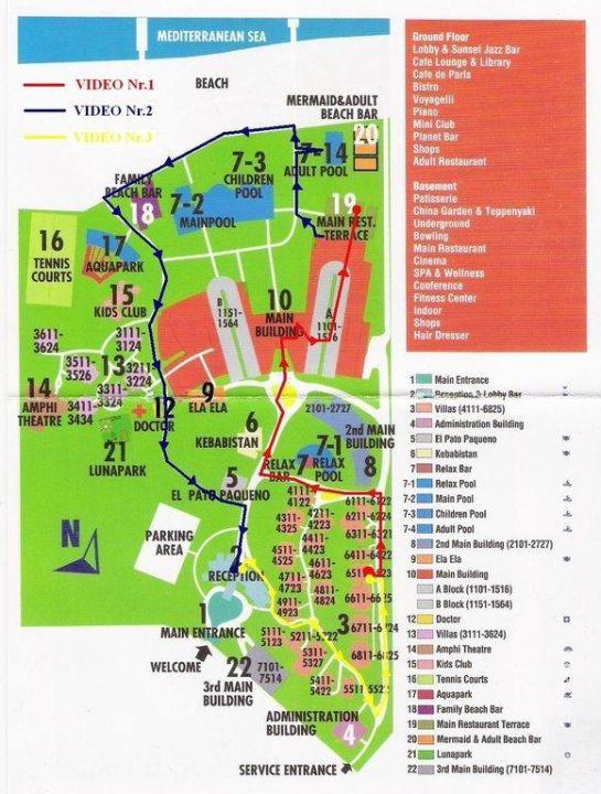 Karte vom Hotel Voyage Belek Golf & Spa