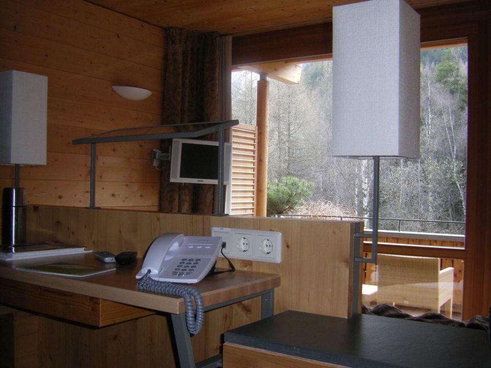 Blick von der Wohnecke Naturhotel Waldklause