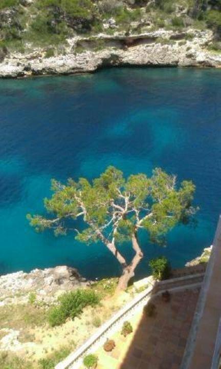 Vom Balkon nach unten fotografiert Villa Sirena
