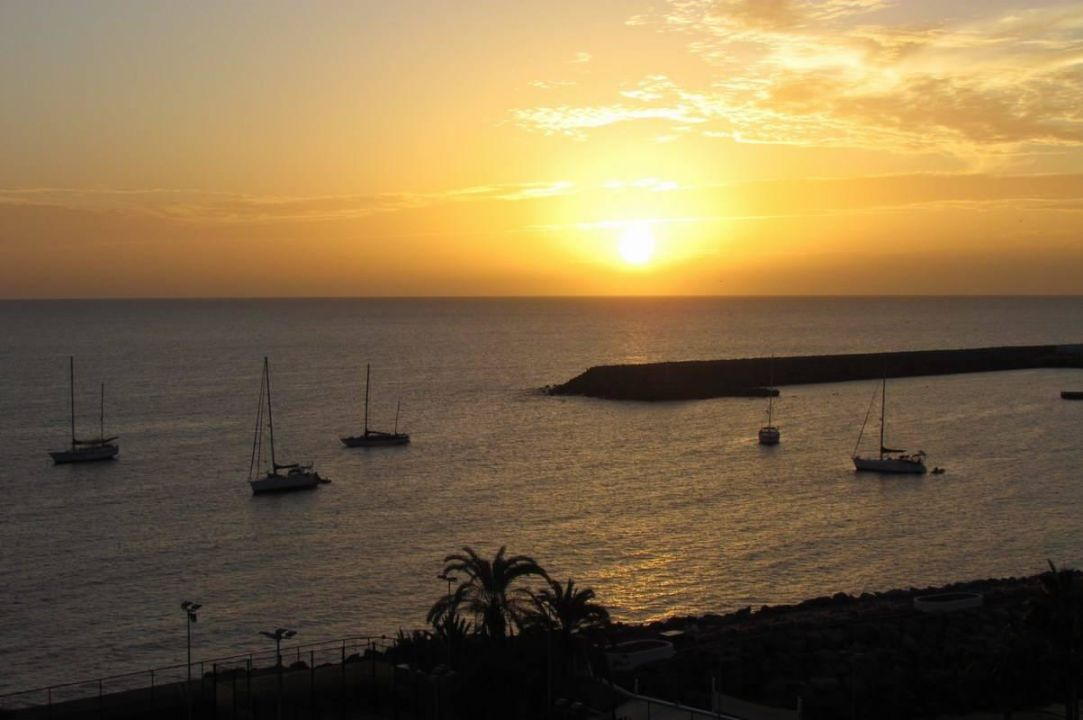 Sunset from Deluxe room #702 Radisson Blu Resort Gran Canaria