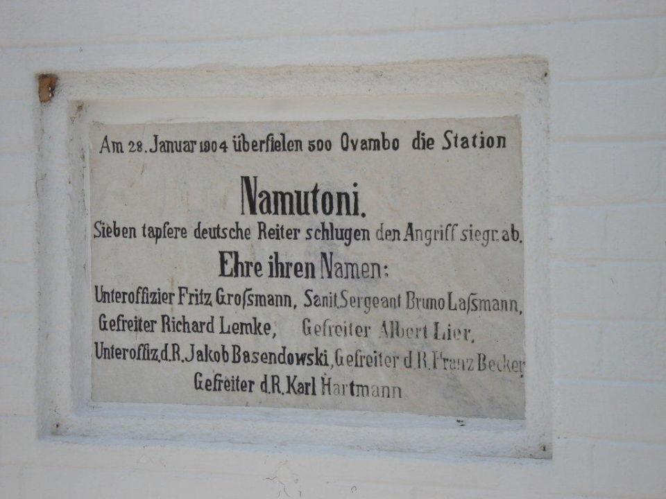 Information zur Geschichte des Fort´s Namutoni Camp