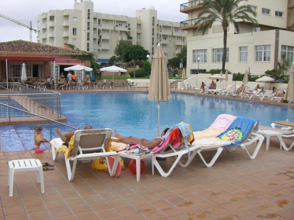"""Die Pool-""""landschaft"""" Hotel Riu Belplaya  (Vorgänger-Hotel – existiert nicht mehr)"""