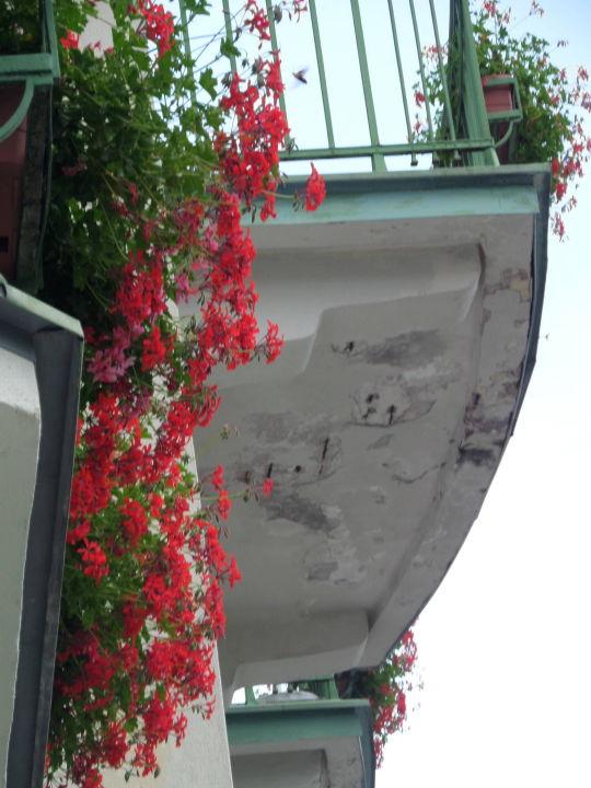 Balkon über uns Hotel Panhans