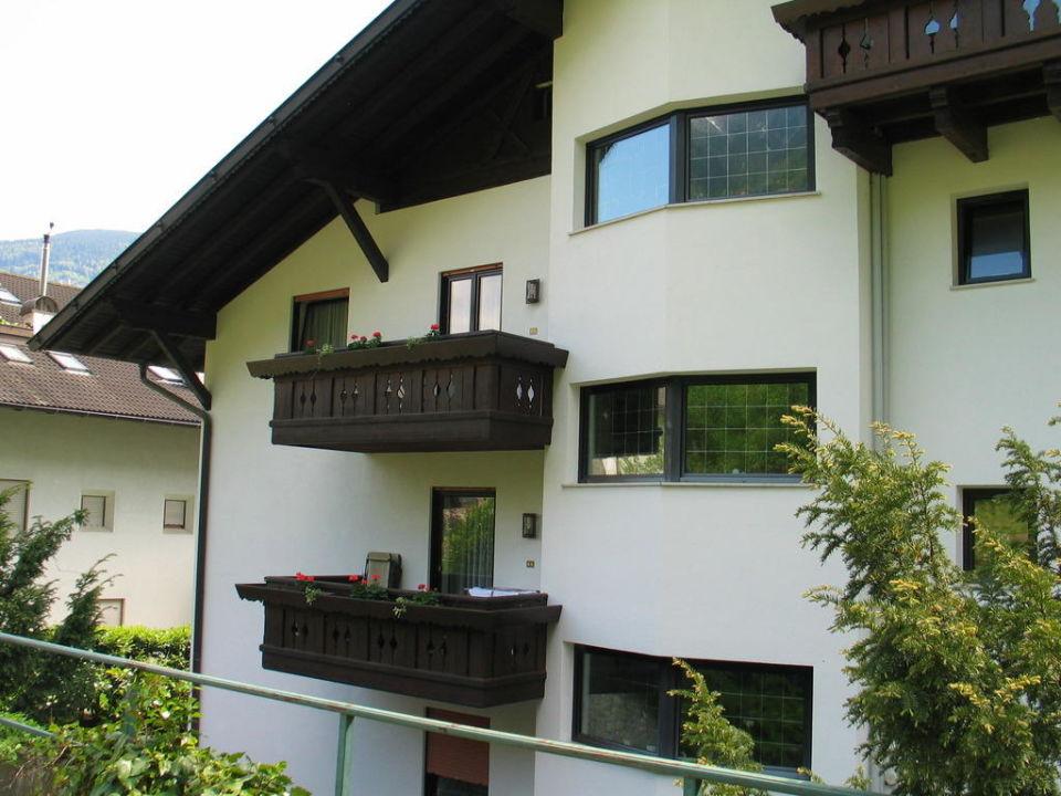 Balkon Richtung Obstplantagen Appartementhotel Siegi