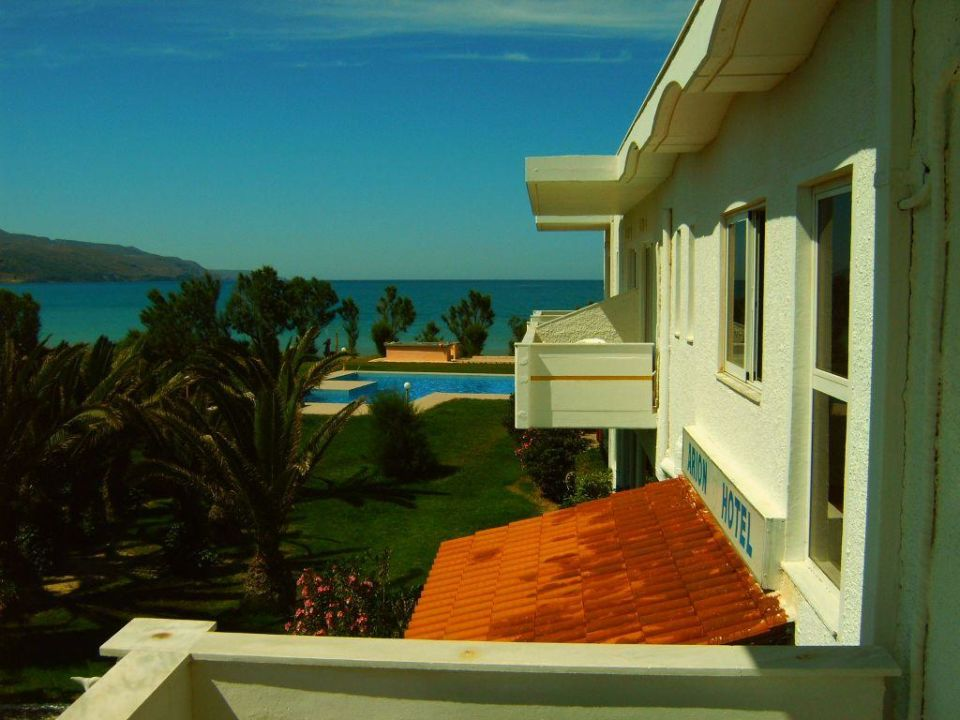 Blick vom Balkon Hotel Arion