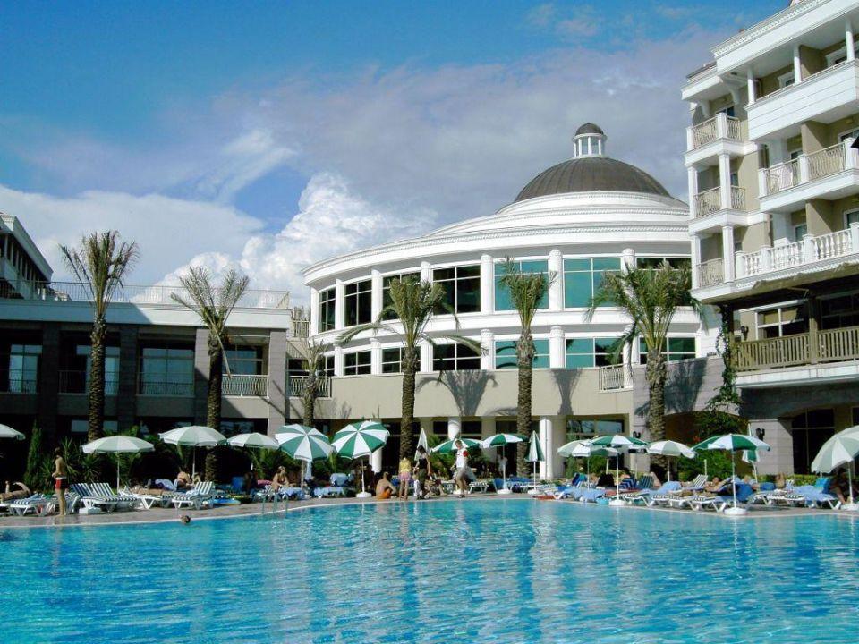 Pool und Rezeption Trendy Aspendos Beach Hotel