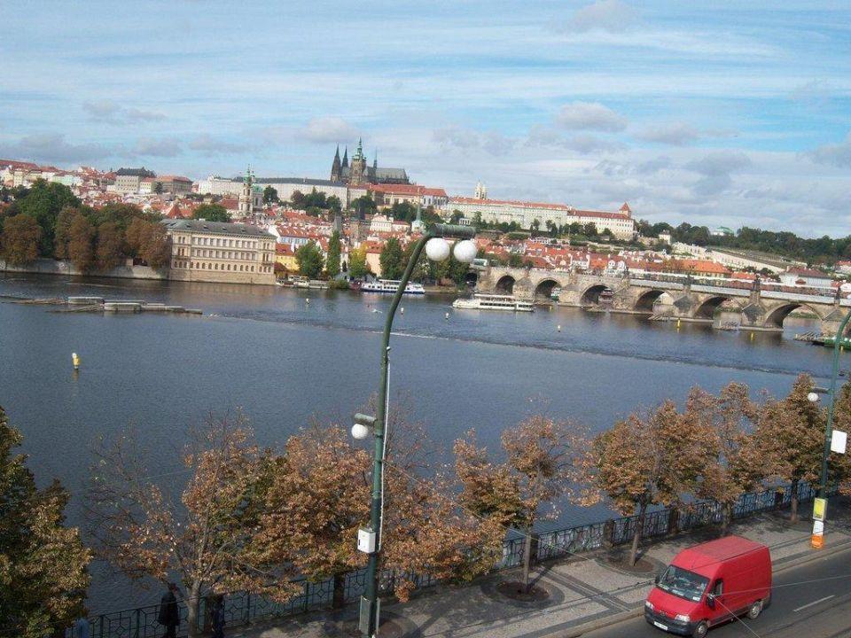 Ausblick aus Zimmer 351 Hotel Leonardo Prague