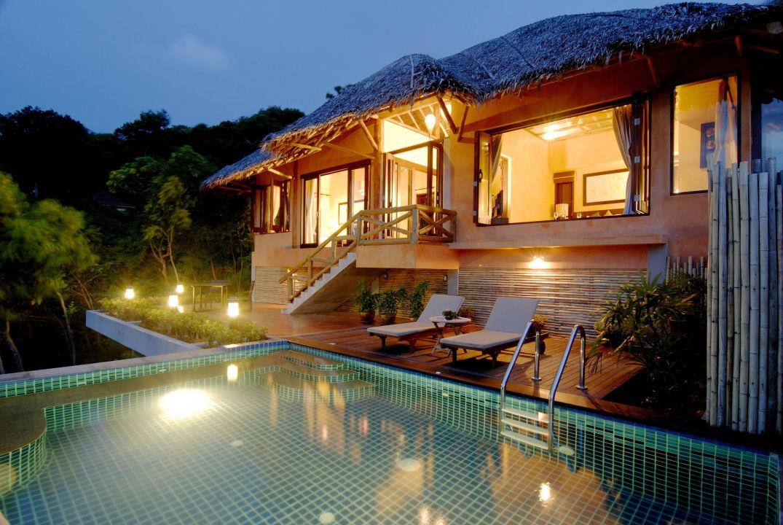 hillside pool villa phi phi island village beach resort. Black Bedroom Furniture Sets. Home Design Ideas