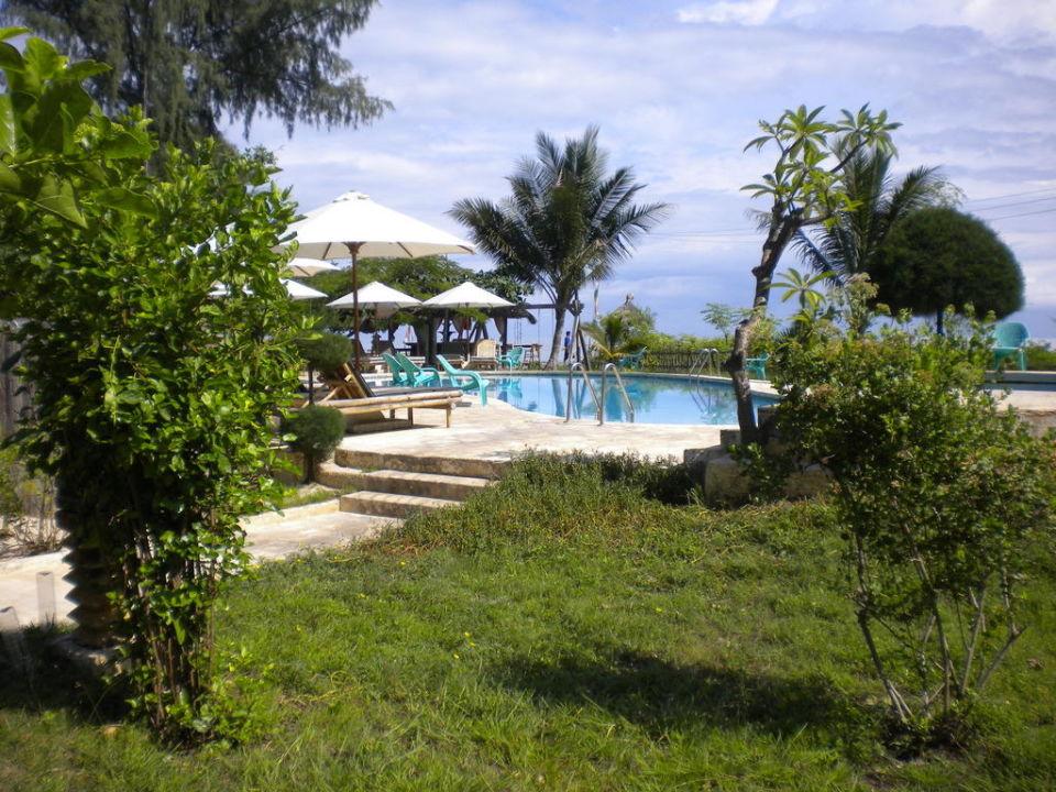 Pool und Garten Gili Air Hotel